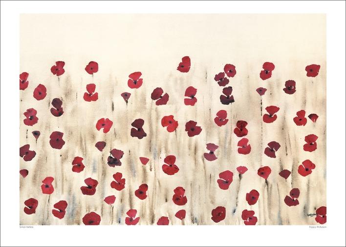 Simon Fairless (Poppy Profusion) Art Print