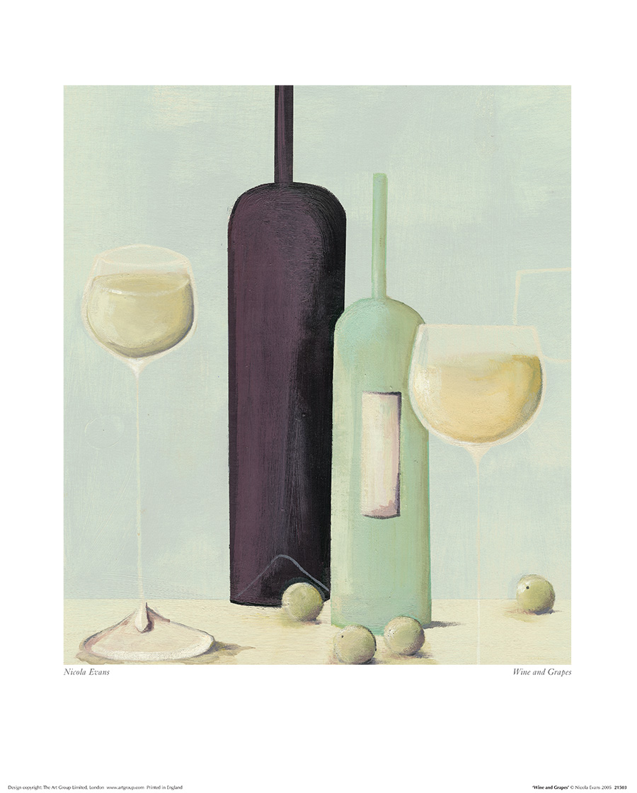 Nicola Evans (Wine And Grapes) Art Prints