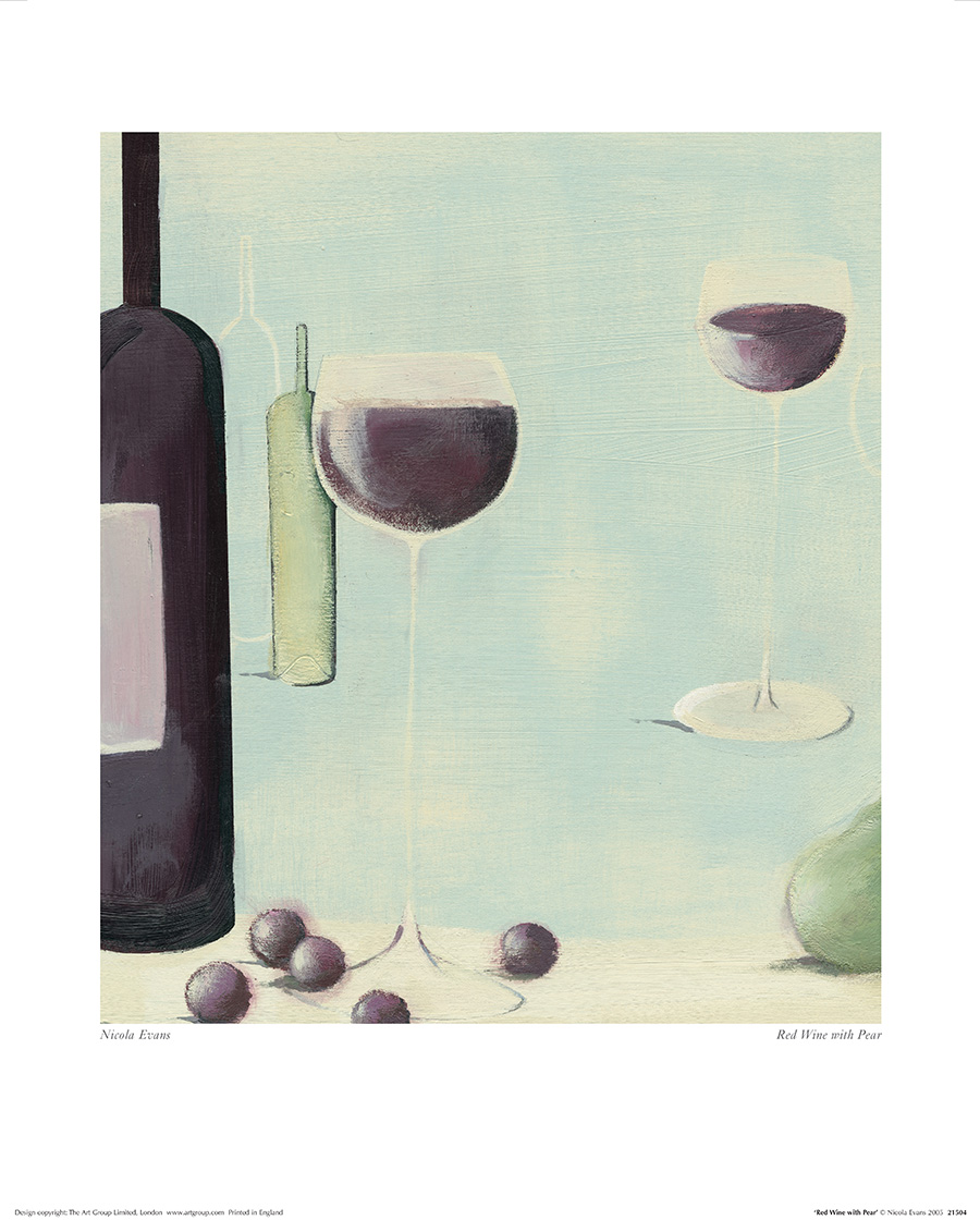 Nicola Evans (Red Wine With Pear) Art Prints