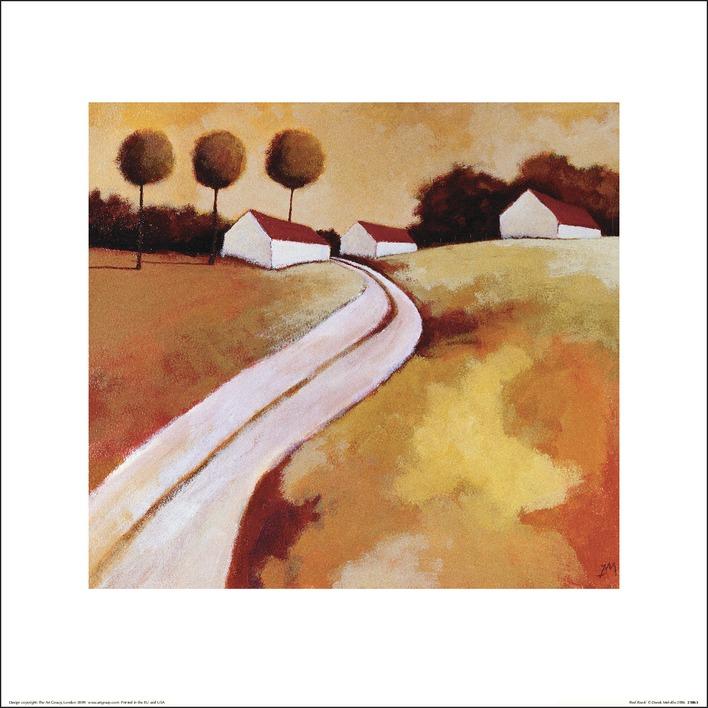 Derek Melville (Red Roofs) Art Prints