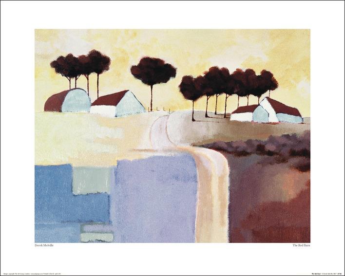 Derek Melville (The Red Barn) Art Print