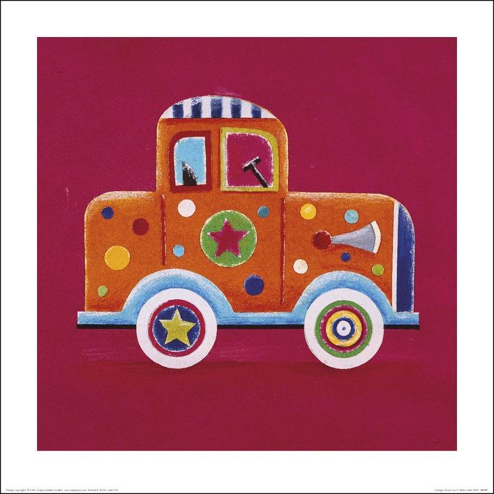 Simon Hart (Orange Clown Car) Art Print