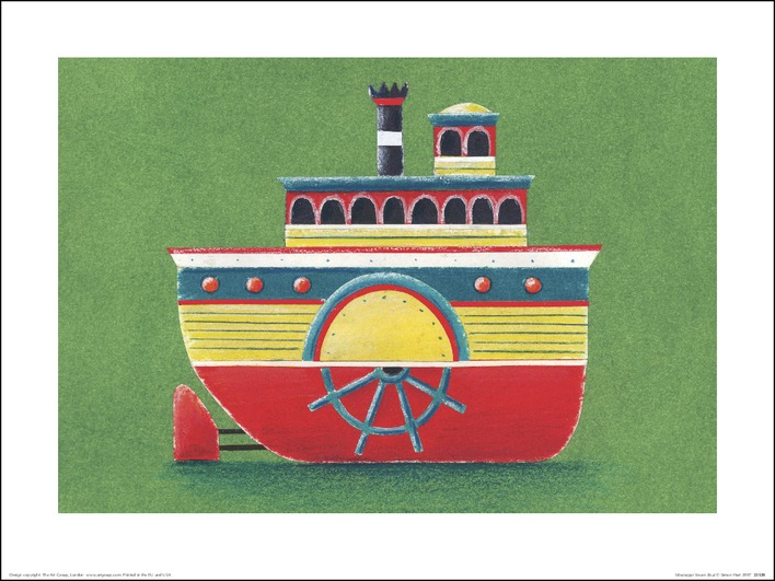 Simon Hart (Mississippi Steam Boat) Art Print