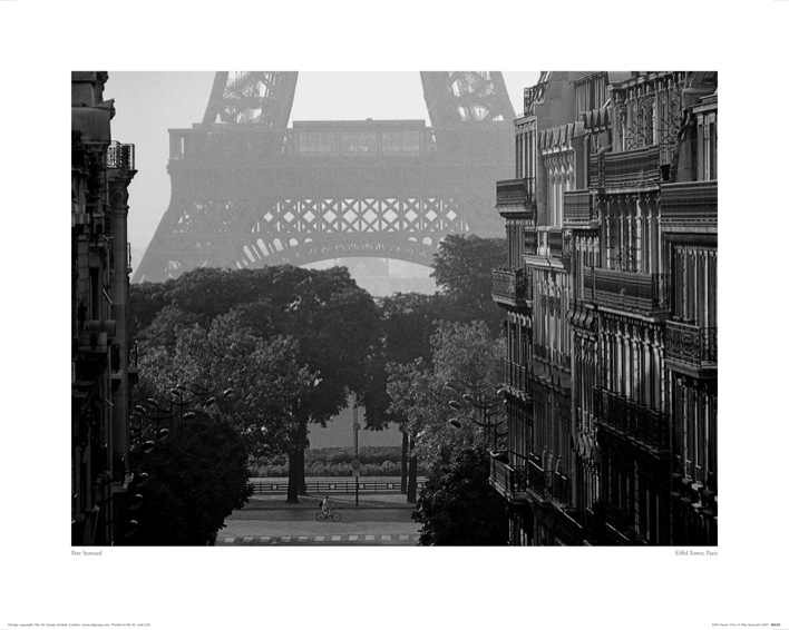 Pete Seaward (Eiffel Tower, Paris) Art Print
