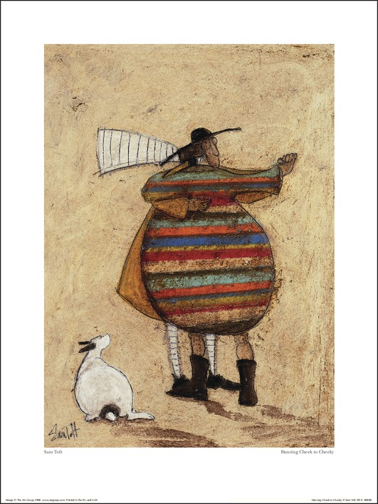 Sam Toft (Dancing Cheek To Cheeky) Art Prints