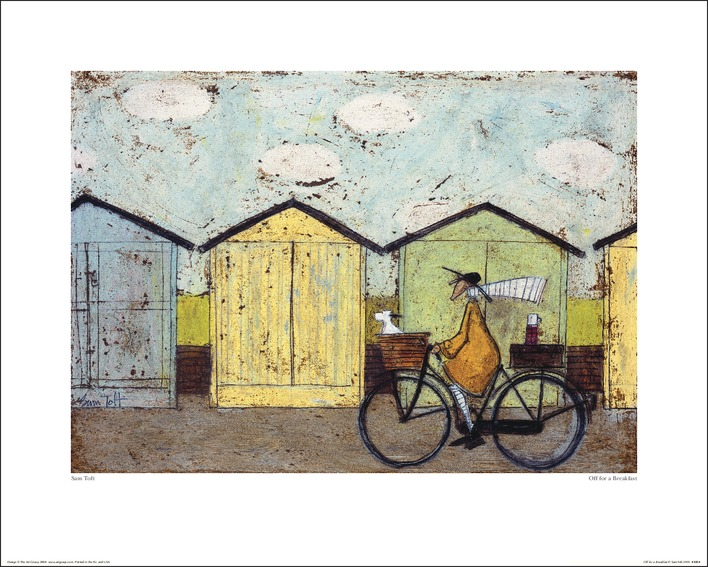 Sam Toft (Off For A Breakfast) Art Print