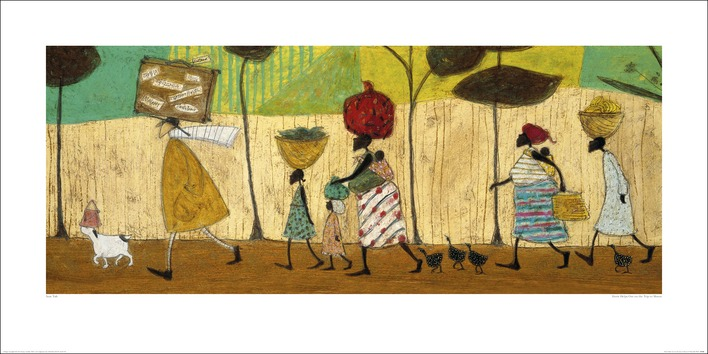 Sam Toft (Doris helps out on the trip to Mzuzu) Art Print