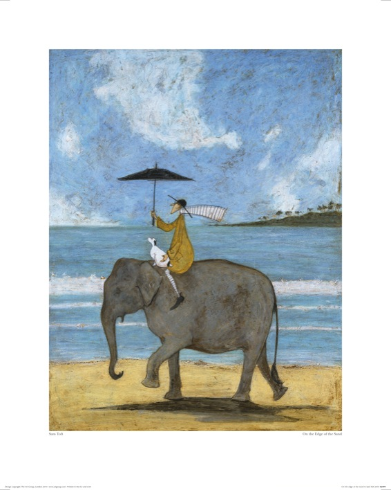 Sam Toft (On The Edge Of The Sand) Art Print