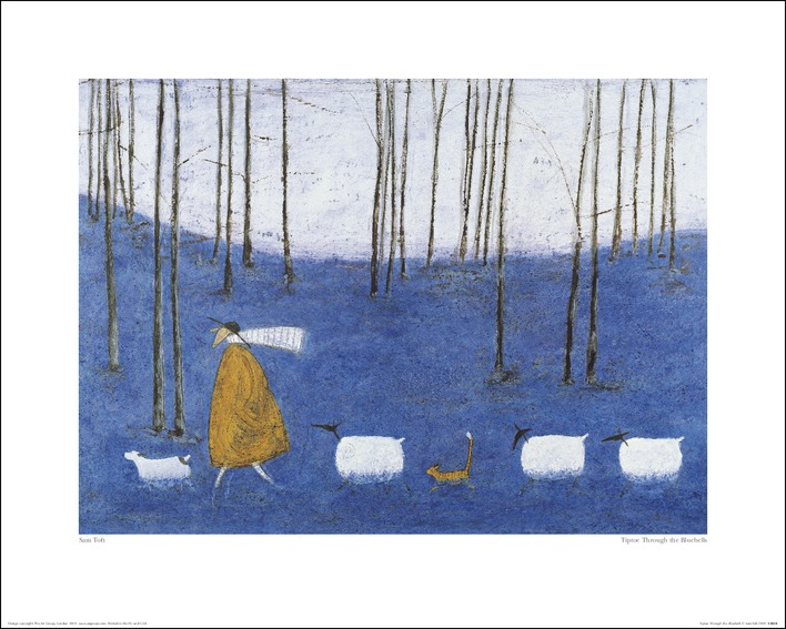 Sam Toft (Tiptoe Through The Bluebells) Art Print