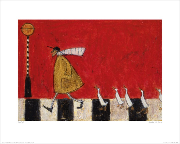 Sam Toft (Crossing With Ducks) Art Print