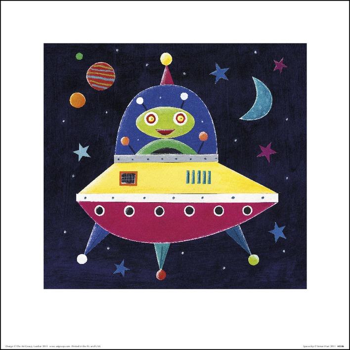 Simon Hart (Spaceship II) Art Print