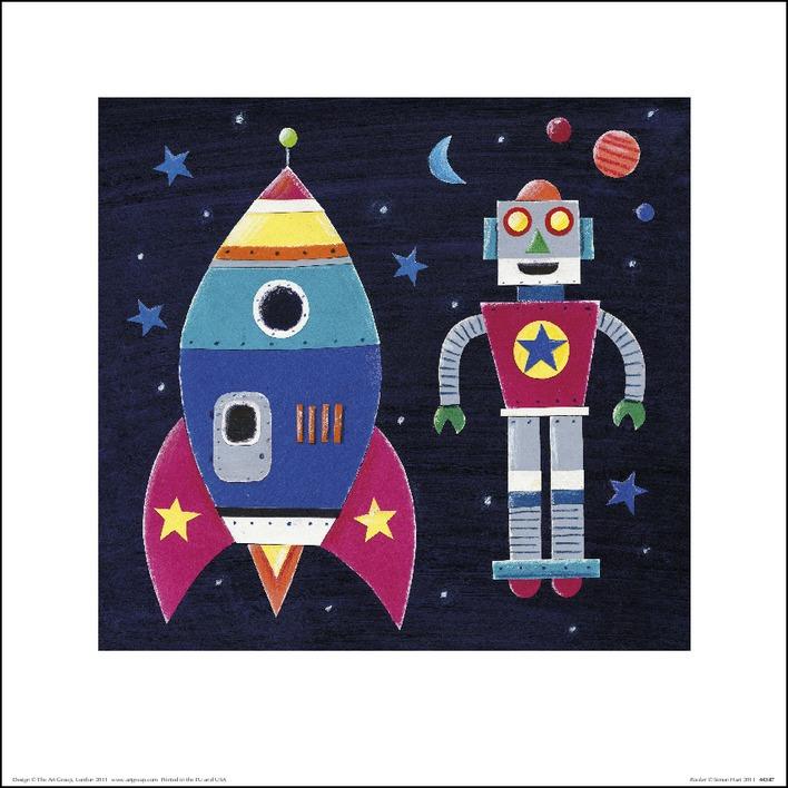 Simon Hart (Rocket) Art Print