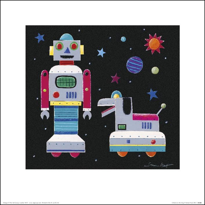 Simon Hart (A Robot & His Dog) Art Prints