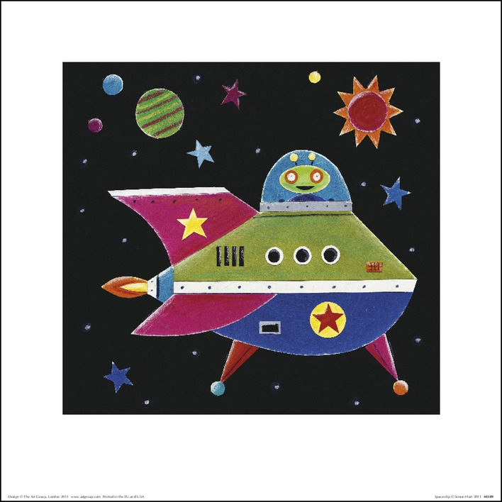 Simon Hart (Spaceship 2) Art Prints