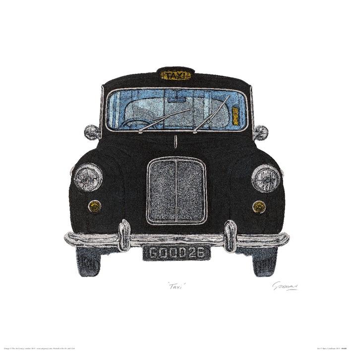 Barry Goodman (Taxi) Art Print