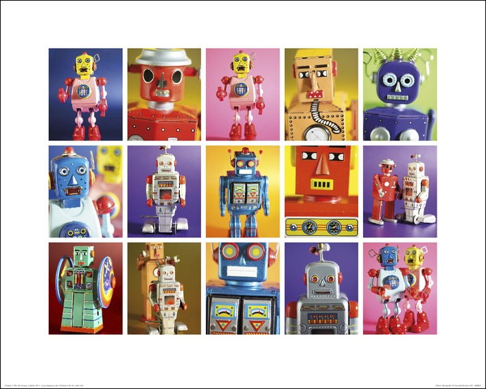 Howard Shooter and Lauren Floodgate (Robot Metropolis) Art Prints