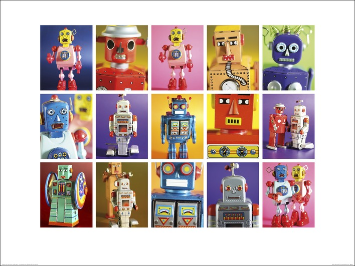 Howard Shooter and Lauren Floodgate (Robot Metropolis) Art Print