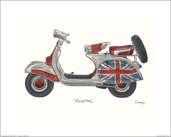 Barry Goodman (Vespa) Art Print