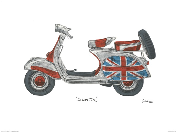 Barry Goodman (Vespa) Art Print