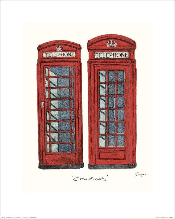 Barry Goodman (Telephone Boxes) Art Prints