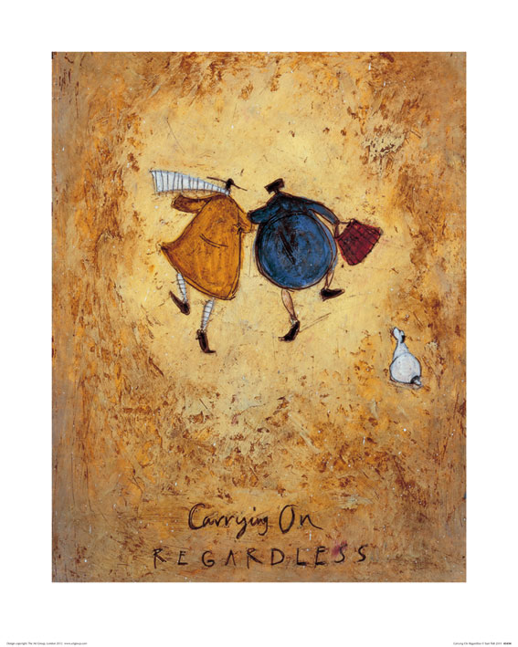 Sam Toft (Carrying on Regardless) Art Print