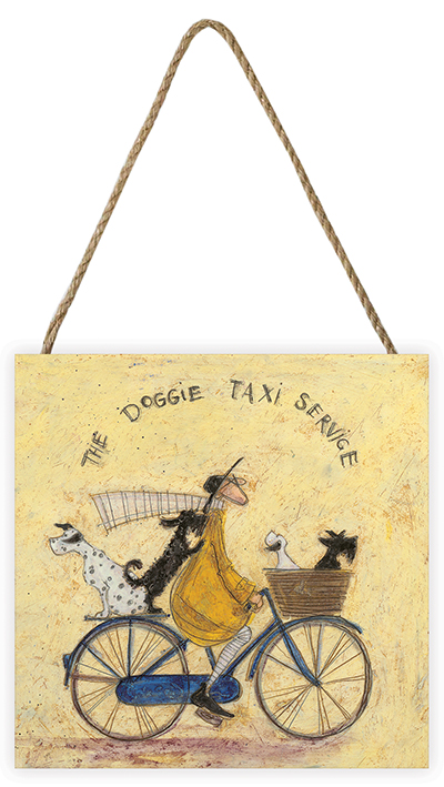 Sam Toft (The Doggie Taxi Service) Wooden Wall Art