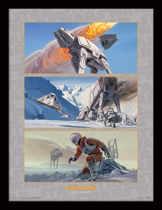 Star Wars (Battle on Hoth) Framed 30 x 40cm Print