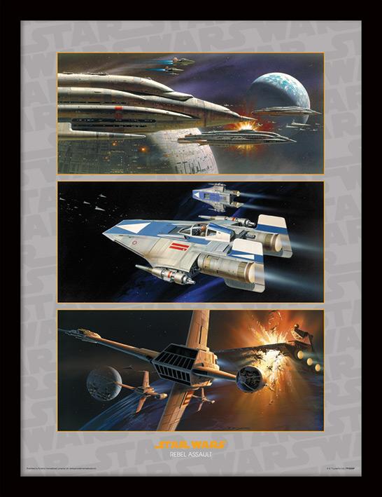 Star Wars (Rebel Assault) Framed 30 x 40cm Prints