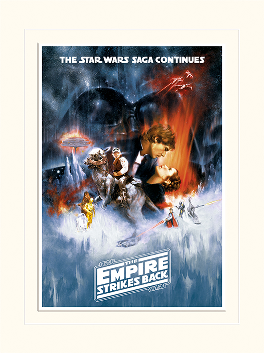 Star Wars The Empire Strikes Back (One Sheet) Mounted 30 x 40cm Prints
