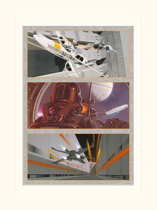 Star Wars (X-Wing Assault) Mounted 30 x 40cm Print