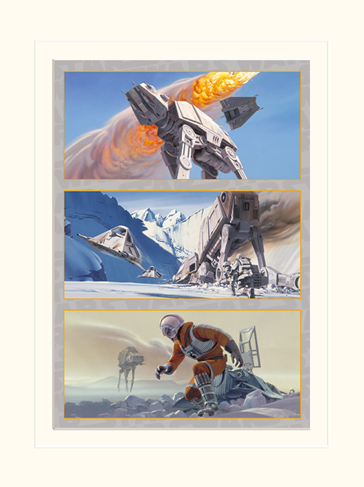 Star Wars (Battle on Hoth) Mounted 30 x 40cm Prints