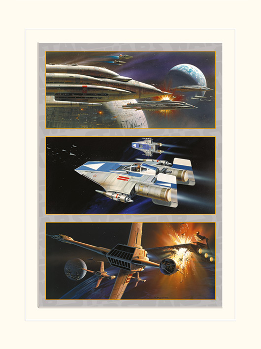 Star Wars (Rebel Assault) Mounted 30 x 40cm Prints