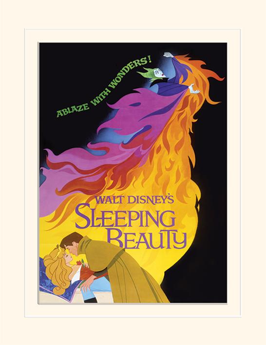 Sleeping Beauty (Ablaze) Mounted 30 x 40cm Print