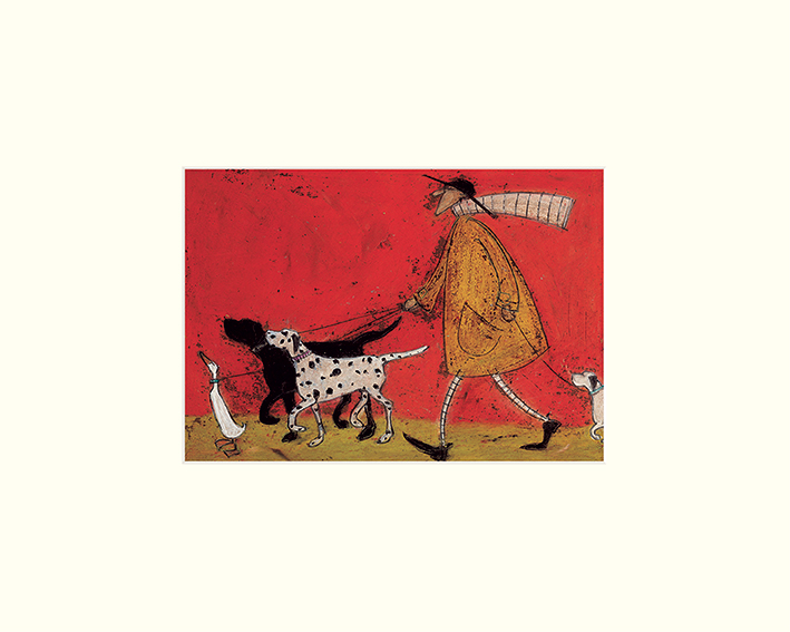 Sam Toft (Walkies) Mounted Print