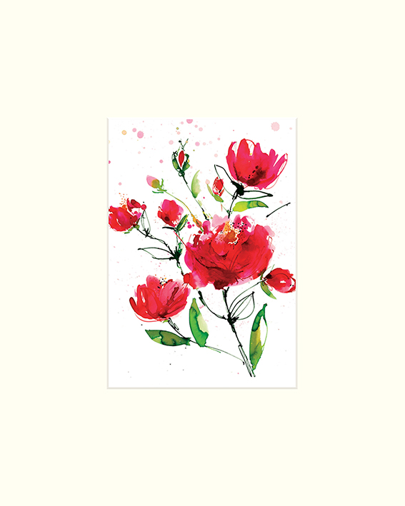 Summer Thornton (Wild Roses) Mounted Print