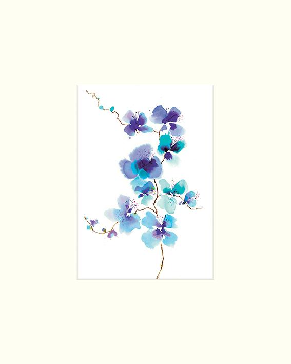 Summer Thornton (Blue Spray) Mounted Print