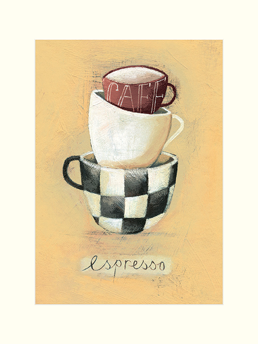Nicola Evans (Cafe Espresso) Mounted Prints