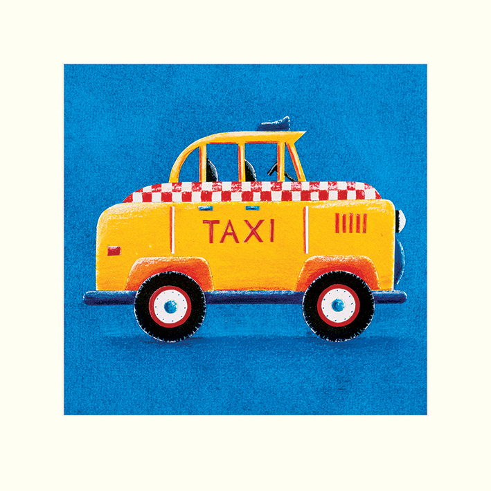 Simon Hart (Yellow Taxi) Mounted Print