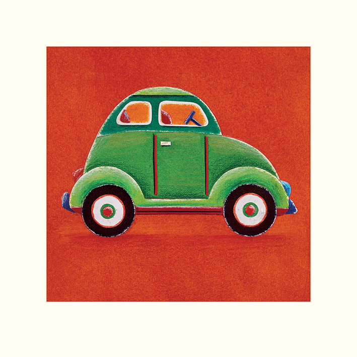 Simon Hart (Green Car) Mounted Prints