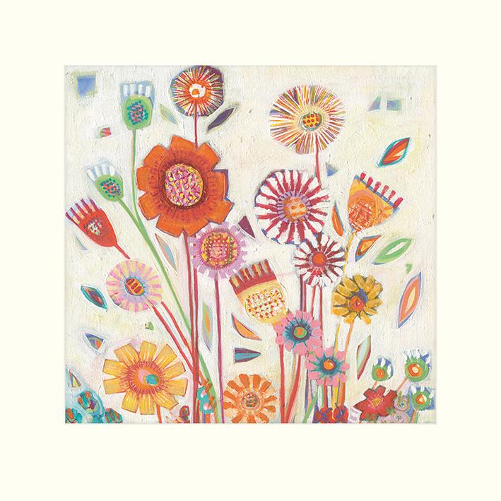 Shyama Ruffell (Summer Blooms) Mounted Print