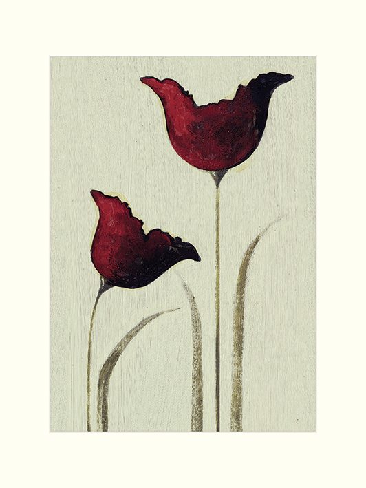 Nicola Evans (Tulips I) Mounted Prints
