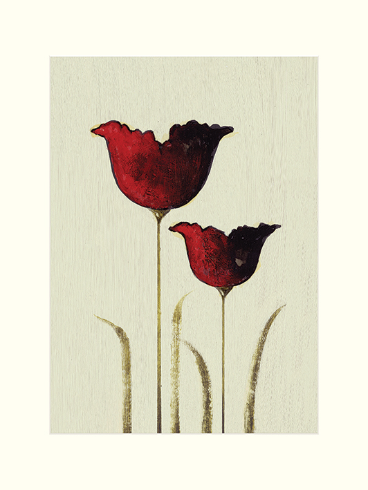 Nicola Evans (Tulips II) Mounted Prints