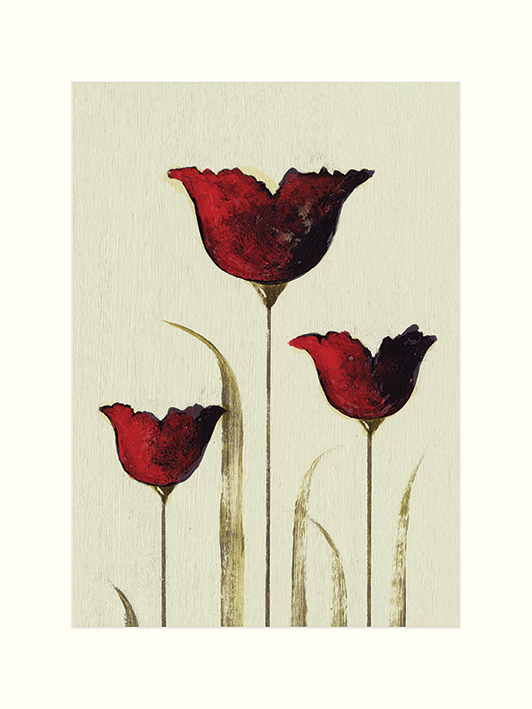 Nicola Evans (Tulips III) Mounted Prints
