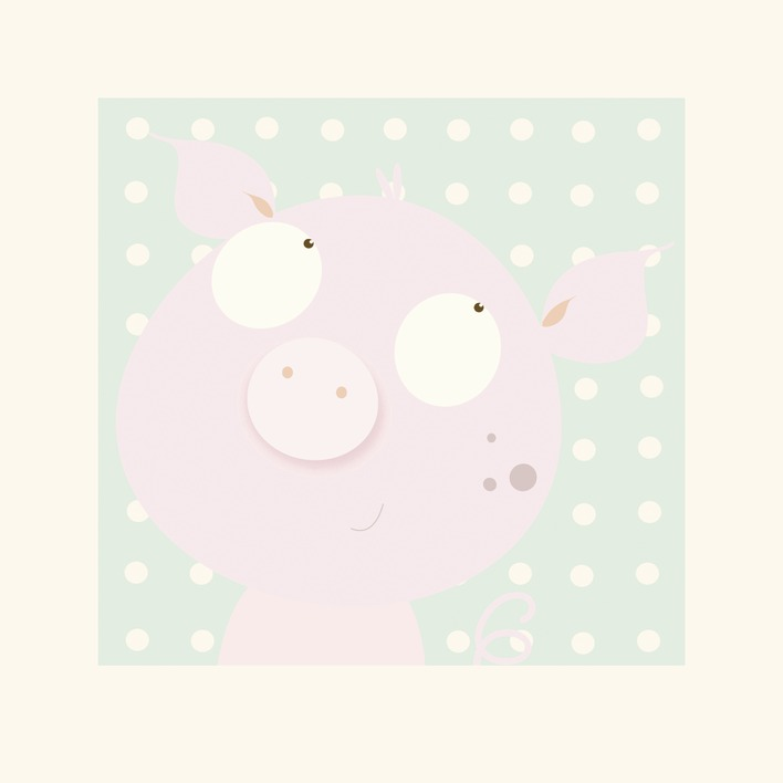 Nicola Evans (Pinky Piggy) Mounted Prints