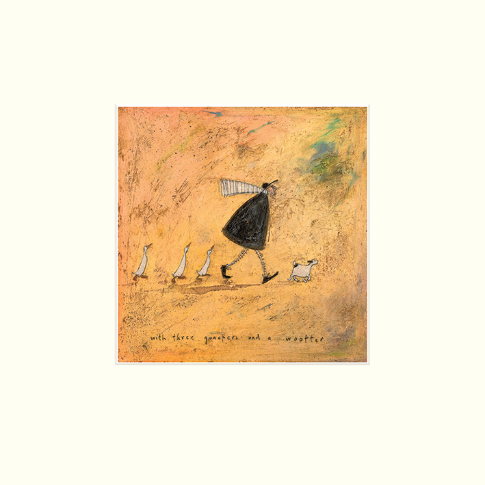 Sam Toft (With Three Quackers and a Wooffer) Mounted Print