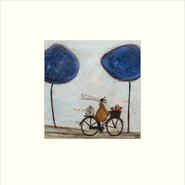 Sam Toft (Freewheelin with Joyce Greenfields and the Felix 3) Mounted Print