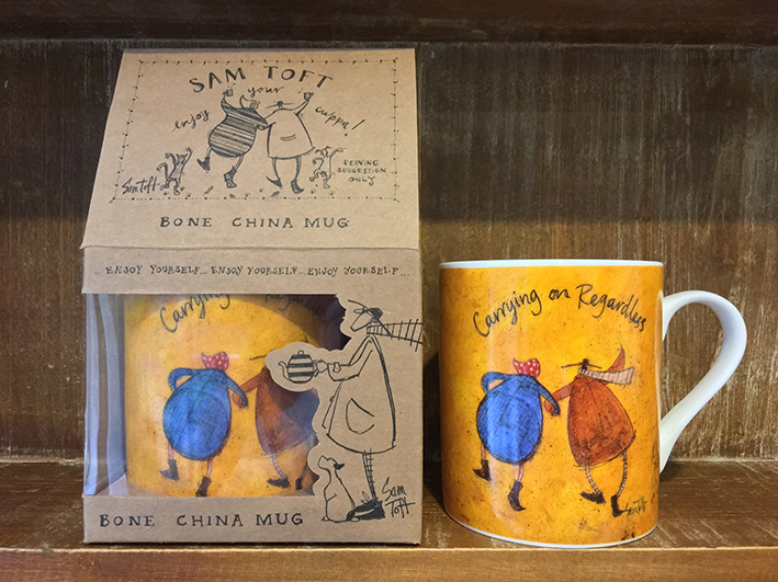 Sam Toft (Carrying on Regardless) China Mugs