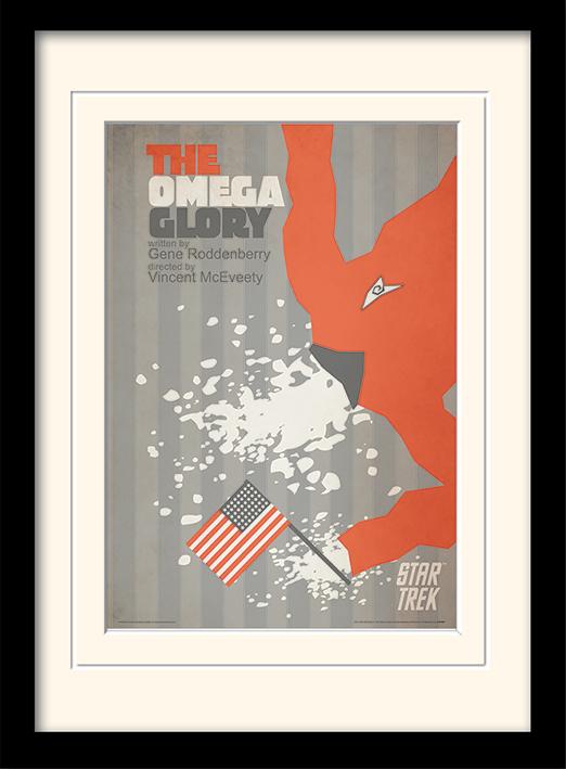 Star Trek (The Omega Glory) Mounted & Framed 30 x 40cm Print