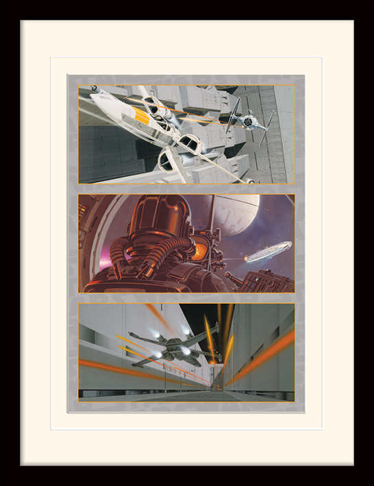 Star Wars (X-Wing Assault) Mounted & Framed 30 x 40cm Prints