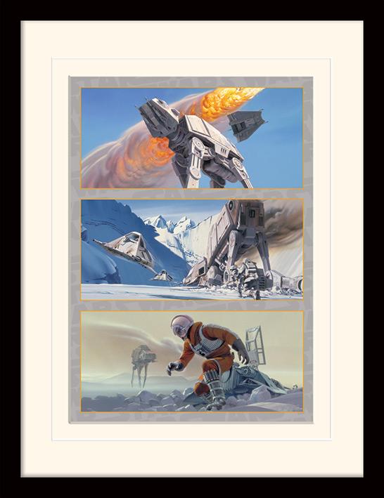 Star Wars (Battle on Hoth) Mounted & Framed 30 x 40cm Prints
